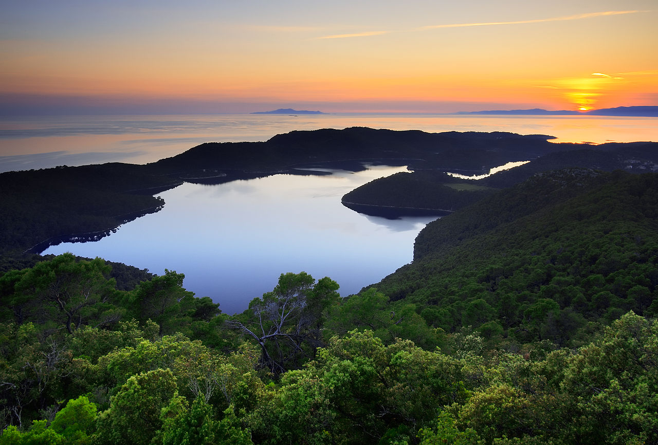 Mljet National Park, Zalazak. Photo from Wikipedia