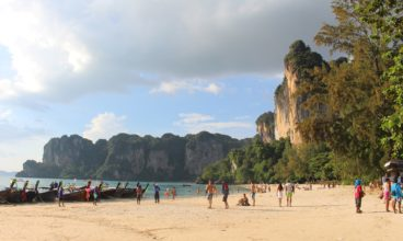 Exploring the Rock Faces of Railay Beach, Thailand